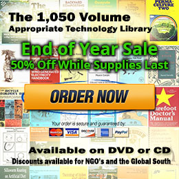 50% Off the 1,050 Volume Appropriate Technology eBook Library. While Supplies Last!