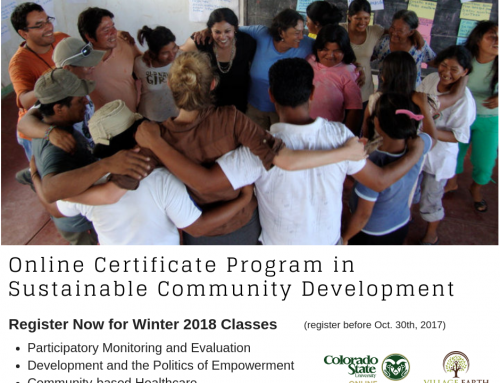 Spring I Courses in the VE/CSU Online Certificate Program in Sustainable Community Development